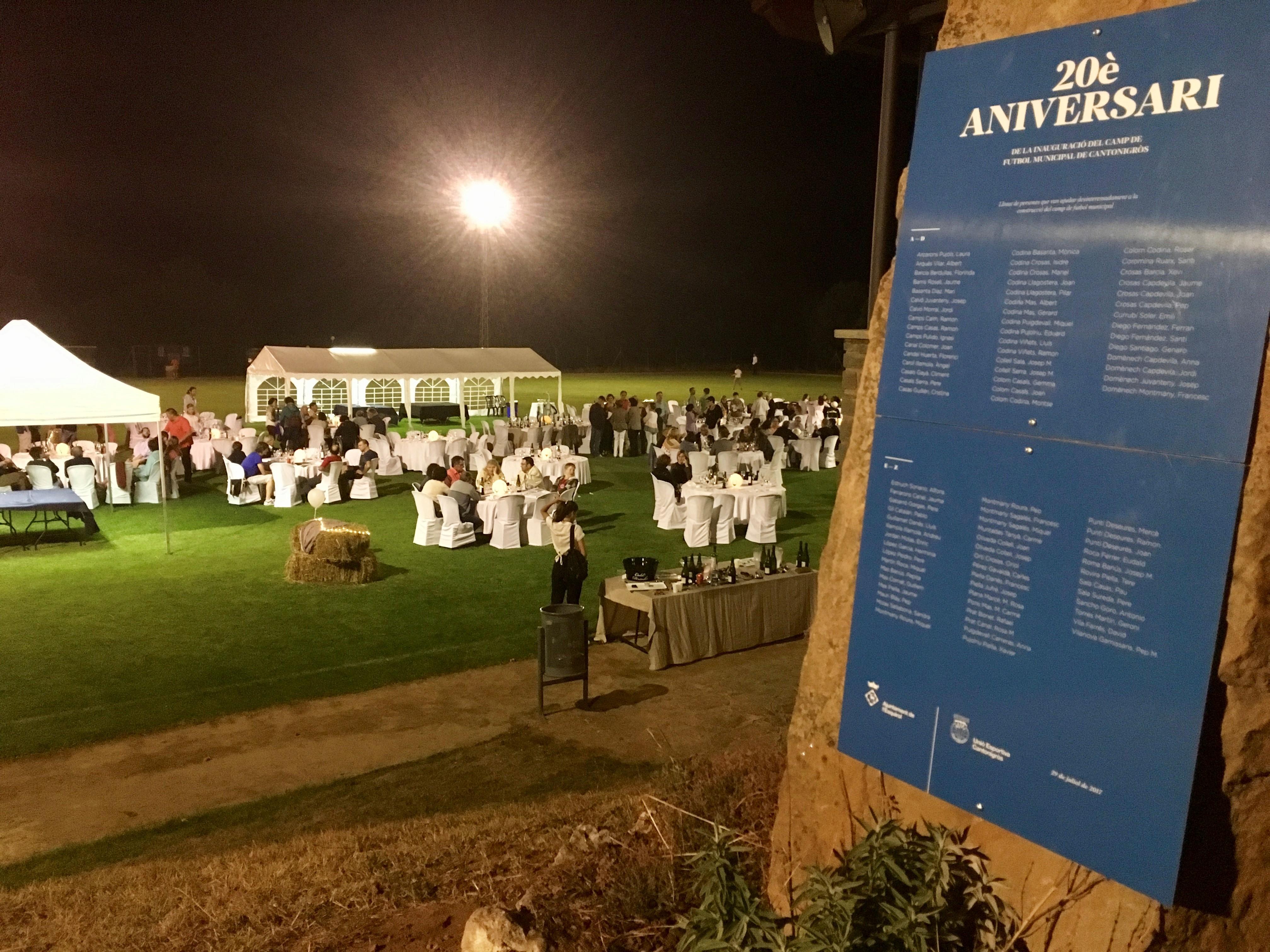 20 anys del camp de futbol de Cantonigròs