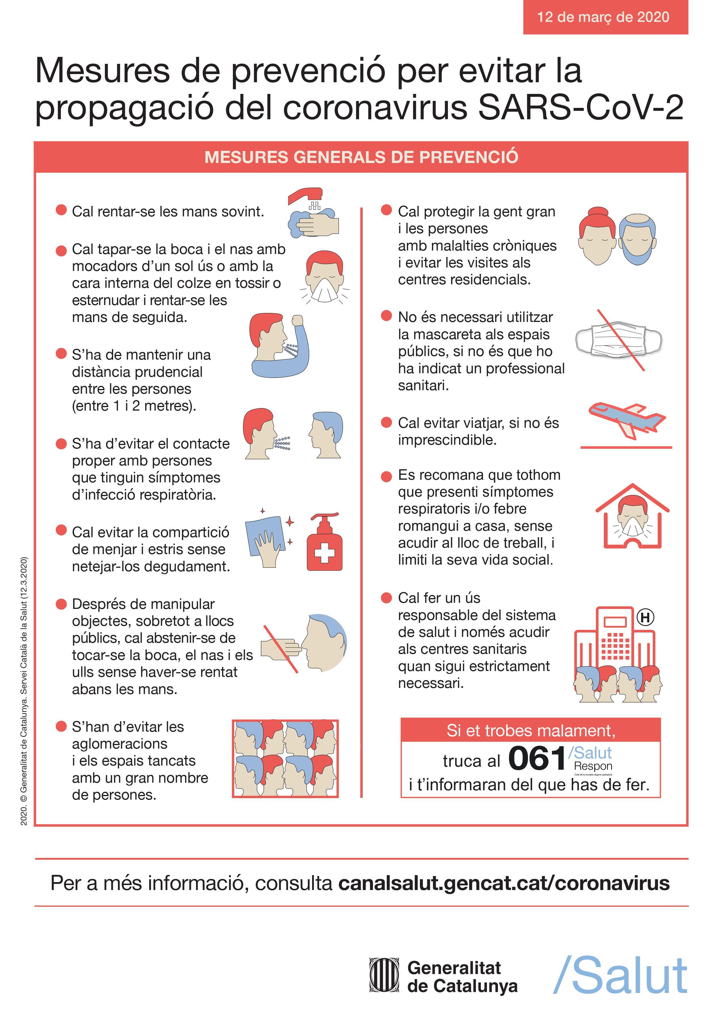Mesures evitar contagis