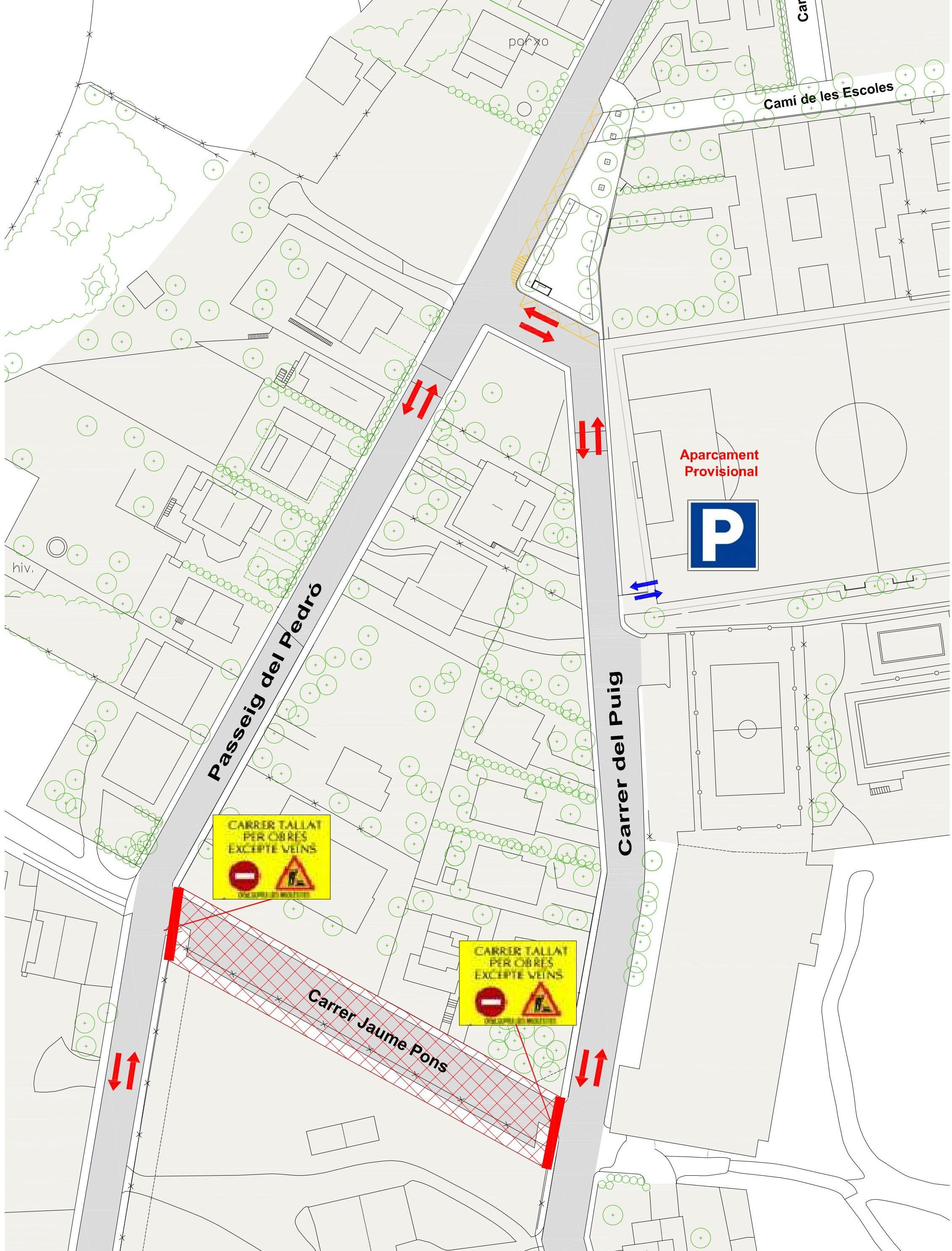 Obres d'urbanització C/ Jaume Pons