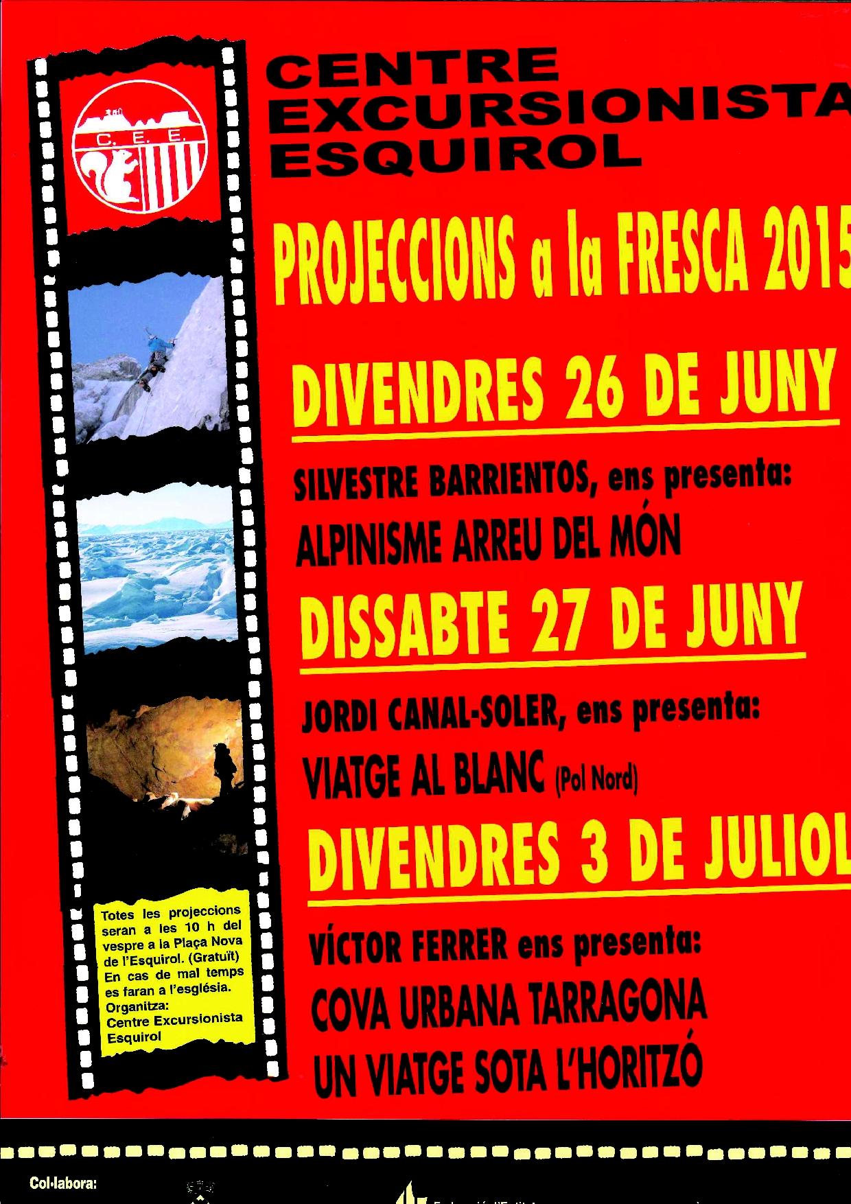 Programa de les projeccions a la fresca 2015