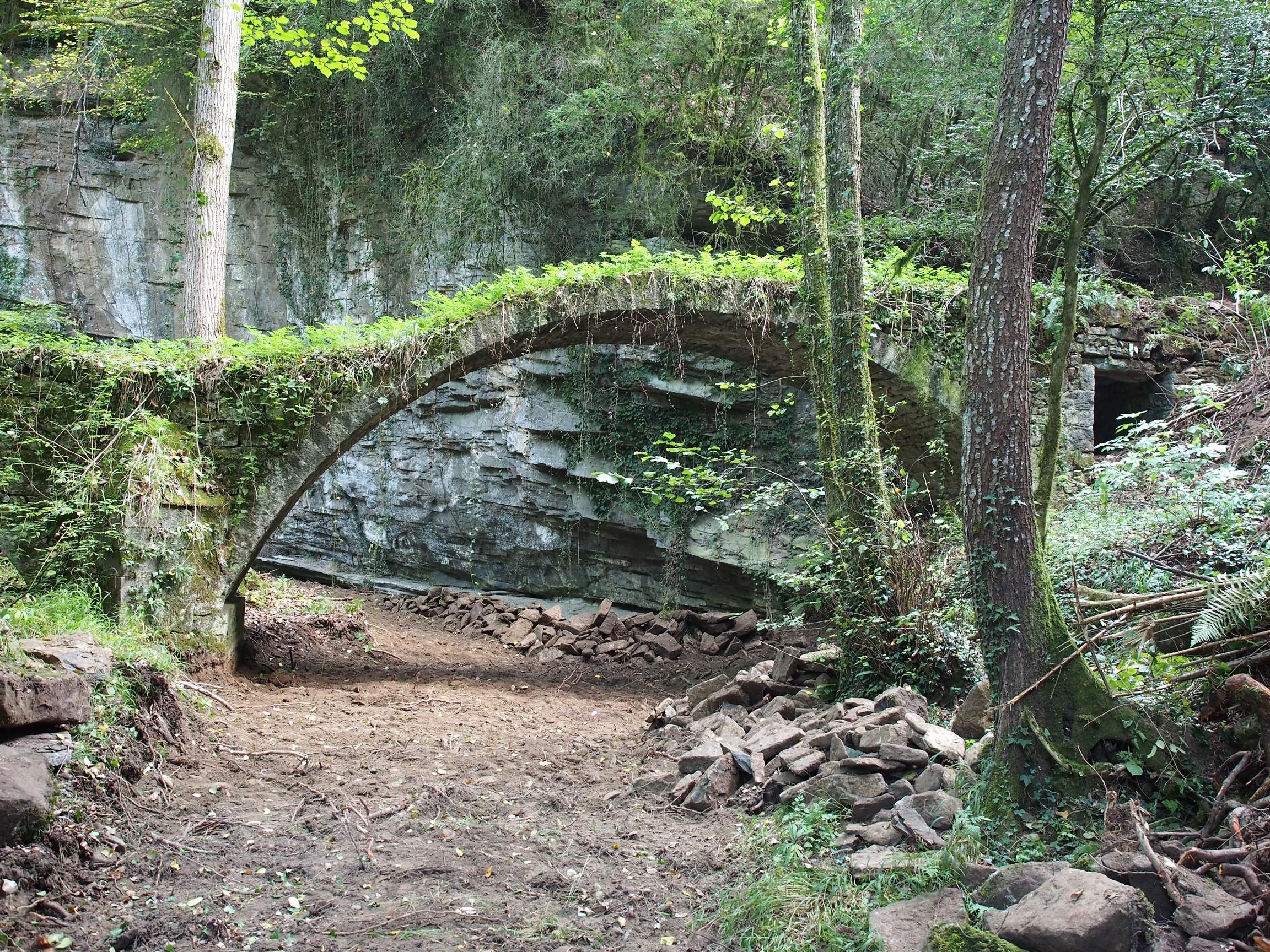 Pont del molí de la Bertrana en l'actualitat